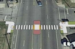 Proposed pedestrian refuge crossing