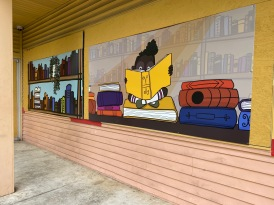 Art on vacant buildings