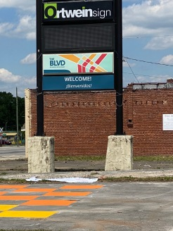 BLVD Branding welcomes visitors from the south end of the BLVD